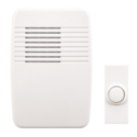 White Wireless Plug-In Doorbell Kit