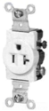 White Straight Blade Single Receptacle
