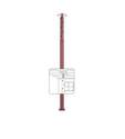 1-Foot 7-Inch To 3-Foot Extend-O-Post Adjustable Jack Post