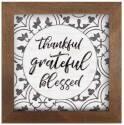 Thankful Grateful Blessed Framed Art