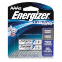 Energizer L92 Series L92bp-2 Cylindrical Lithium Battery, Lithium, Iron Disulfide, AAA Battery, 1250 MAh