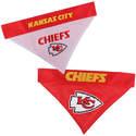 Kansas City Chiefs- Home/Away Pet Bandana, Large/X-Large