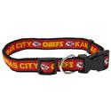 Kansas City Chiefs Small Dog Collar