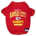 Kansas City Chiefs Medium Pet Tee Shirt