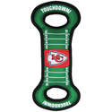 Kansas City Chiefs Field Tug Dog Toy With Squeaker