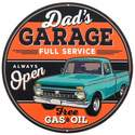 12-Inch Dad's Garage Embossed Tin Sign