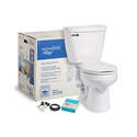 1.6-Gpf Round White Toilet Kit