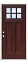 38 x 82-Inch V-Grooved Fiberglass Mahogany Door