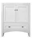 30 x 21-1/4 x 34-1/4-Inch White 2-Door 1-Drawer Bathroom Vanity Cabinet