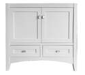 36 x 21-1/4 x 34-1/4-Inch 2-Door 2-Drawer White Bathroom Vanity Cabinet
