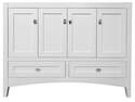 48 x 21-1/4 x 34-1/4-Inch White 4-Door 2-Drawer Bathroom Vanity Cabinet