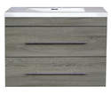 30-Inch Gray Floating Vanity With Top