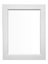 21-Inch X 27-Inch White Framed Mirror For Euro Combination