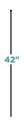 Small 42-Inch Multi-Purpose Fence Grid Post Stake, Black