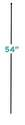 Large 54-Inch Multi-Purpose Fence Grid Post Stake, Black