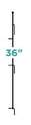 Small 36-Inch Multi-Purpose Grid Latch Post Stake, Black