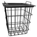 14 x 15-1/2-Inch Black Modern Farmhouse Wire Basket Plant Stand