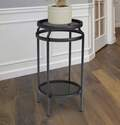 20-Inch Black New Age Double Plant Stand
