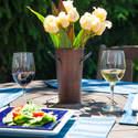 9-Inch Rustic Copper Fresh Cut Flower Vase