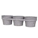 8-Inch 3-Bucket Aged Galvanized Wall Planter