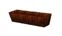 24-Inch Brown Woven Window Planter