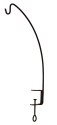 24-Inch Black Clamp Style Angled Hook Hanger