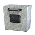 Galvanized File Drawer Wall Planter With Chalkboard Tag