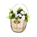 10-Inch Rustic Planter Basket With Burlap Liner