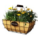 14-Inch Rust Welcome Basket With Handle