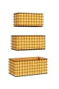 3-Piece Rustic Woven Wire Wall Basket Planter Set