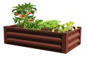 4 x 2 x 1-Foot Brown Raised Ground Planter With Liner