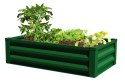 47 x 26 x 12-Inch Forest Green Raised Ground Planter With Liner