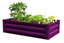 47 x 26 x 12-Inch Eggplant Raised Ground Planter With Liner