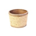 8-Inch Nautical Rope And Metal Planter