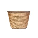 10-Inch Nautical Rope And Metal Planter