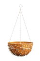 14 in French Country Scroll Hanging Basket Distress White