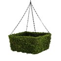 13-Inch Square Moss Hanging Basket