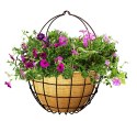14-Inch Rustic Hanging Basket With Liner And Hook
