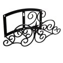 Classic Finial & Scroll Hose Hanger Black