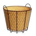 8-Inch Rustic Bushel Basket Planter