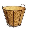 10-Inch Rustic Bushel Basket Planter With Burlap Liner