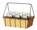 14-Inch Rustic Mason Jar Basket Planter