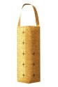 Hanging Strawberries And Flowers Burlap Pouch