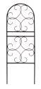 72-Inch Black Scroll Trellis
