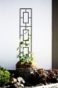 46-Inch Black Contemporary Pot Trellis