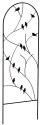 72-Inch Black Perching Birds Trellis