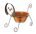 10-Inch Rustic Dog Shaped Planter With Coco Liner