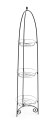 73.5-Inch 3-Tier Black Finial Top Plant Stand
