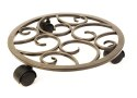 12-Inch Brown Scroll Caddy
