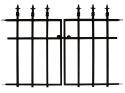 27 x 37-Inch Black Classic Gate